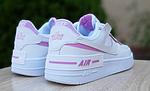 Женские кроссовки Nike Air Force 1 Shadow (белые с сиреневым) 20204 повседневные демисезонные кроссы, фото 2