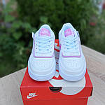 Женские кроссовки Nike Air Force 1 Shadow (белые с сиреневым) 20204 повседневные демисезонные кроссы, фото 10