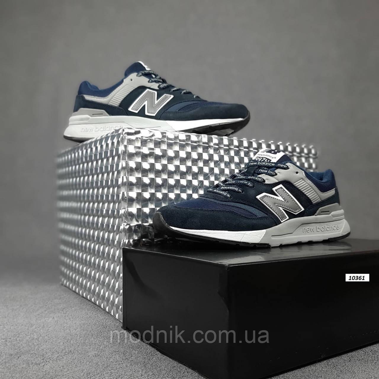 Чоловічі рефлективні кросівки New Balance 997H (сині) 10361 демісезонна спортивна якісна взуття