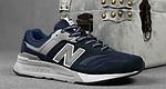 Чоловічі рефлективні кросівки New Balance 997H (сині) 10361 демісезонна спортивна якісна взуття, фото 2