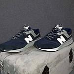 Чоловічі рефлективні кросівки New Balance 997H (сині) 10361 демісезонна спортивна якісна взуття, фото 9