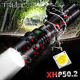 Дальнобойный мощный фонарь TRLIFE Red-Black Camo Edition+5000mAh Panasonic (1800LM, XHP50.2, USB, 1*26650), фото 3