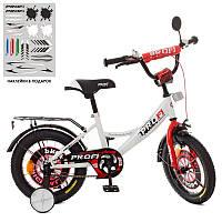 """Велосипед двухколесный 14"""" Profi XD1445 Original boy, бело-красный"""