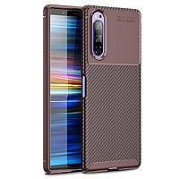 Чохол Carbon Case для Sony Xperia 5 Brown