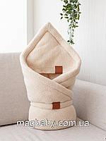 Конверт-одеяло на выписку на махре Familia, бежевый