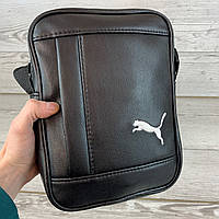 Мужская сумка через плечо Puma Пума кожаная барсетка мессенджер спортивная видео обзор