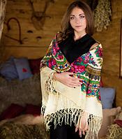 Нежный платок для женщин цвета шампань (120х120см, шампань, 100%-акрил), фото 1