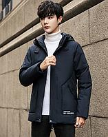 Теплый мужской пуховик с капюшоном. Модель 56438, фото 6