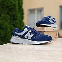 Мужские рефлективные кроссовки New Balance 997 (синие) 10365 демисезонная спортивная качественная обувь