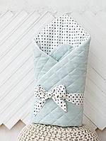 """Велюровый конверт-одеяло """"Tessera"""", сизый"""