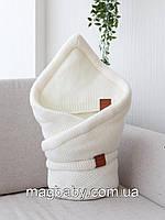 Конверт-одеяло на выписку на махре Familia, молоко