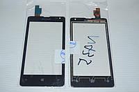 Оригинальный тачскрин / сенсор (сенсорное стекло) для Microsoft Lumia 435 (черный цвет, Synaptics, самоклейка)