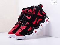 Мужские кроссовки Nike Air Barrage Mid (бело-красные) KS 1350 демисезонные кроссы на высокой подошве
