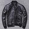 Мужская куртка Urban из натуральной кожи L черная. (Р1312)