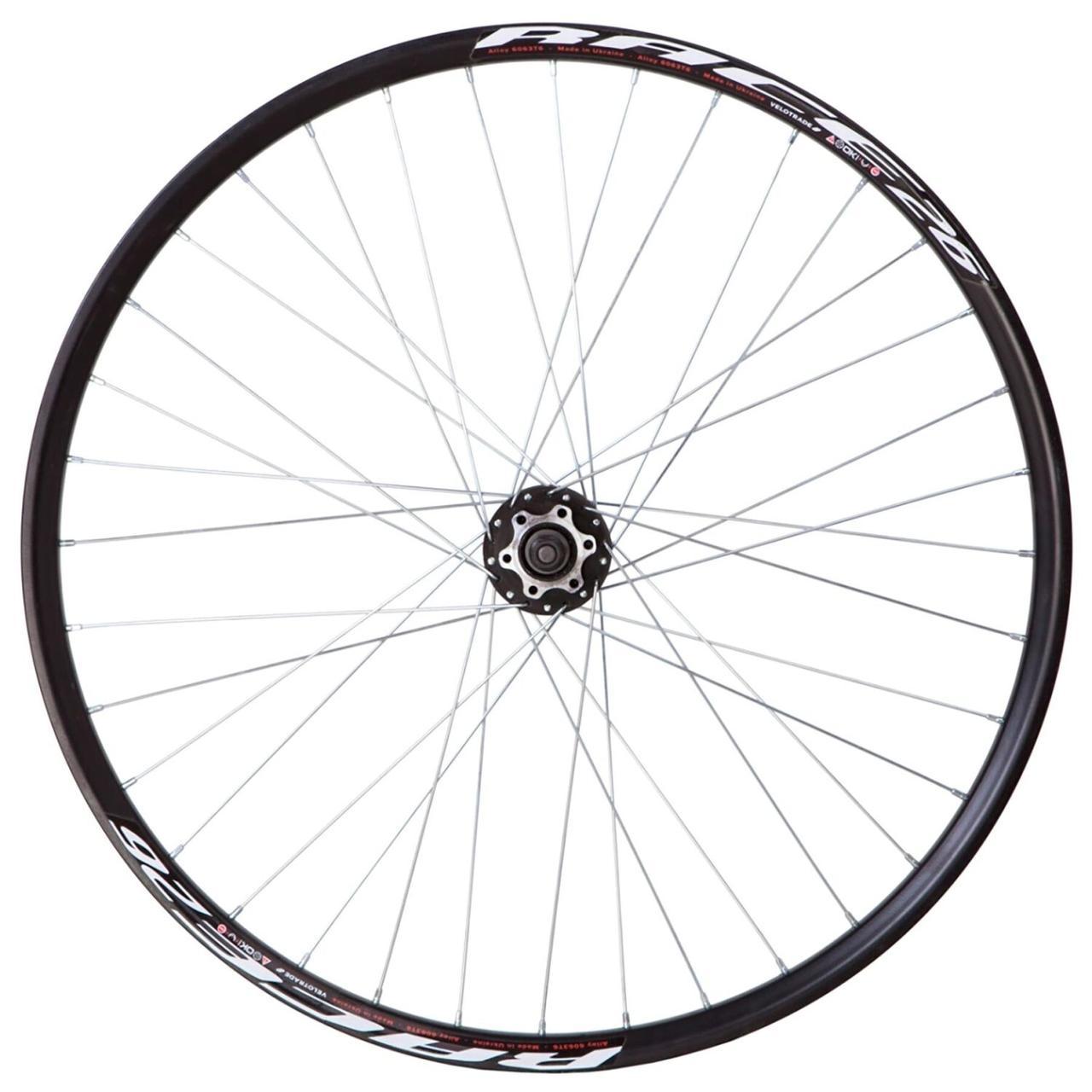 """Колесо велосипеда 29"""" переднее под диск. обод двуст. AL 36H; Втулка ST SHUNFENG SF-H25F на гайках черн."""