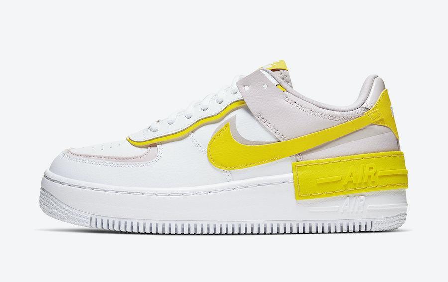 "Кроссовки Nike Air Force 1 Shadow ""Белые/Желтые"""