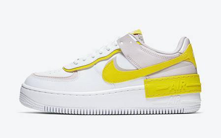 "Кроссовки Nike Air Force 1 Shadow ""Белые/Желтые"", фото 2"