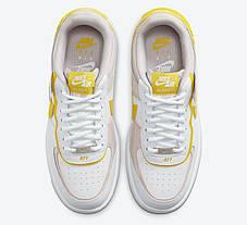 "Кроссовки Nike Air Force 1 Shadow ""Белые/Желтые"", фото 3"