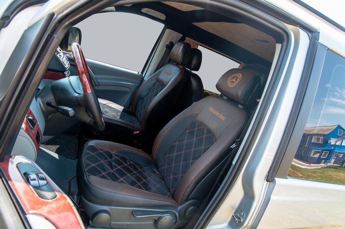 Чехлы Mercedes-Benz Vito 639 2003- Нубук 1+1