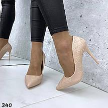 Туфли женские на каблуке лодочка, фото 3