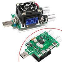 USB тестер JUWEI 4-25В з регульованим навантаженням 35вт QC2.0 QC3.0