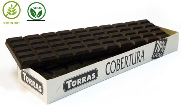 Шоколад чорний Torras Cobertura 70% 900 g