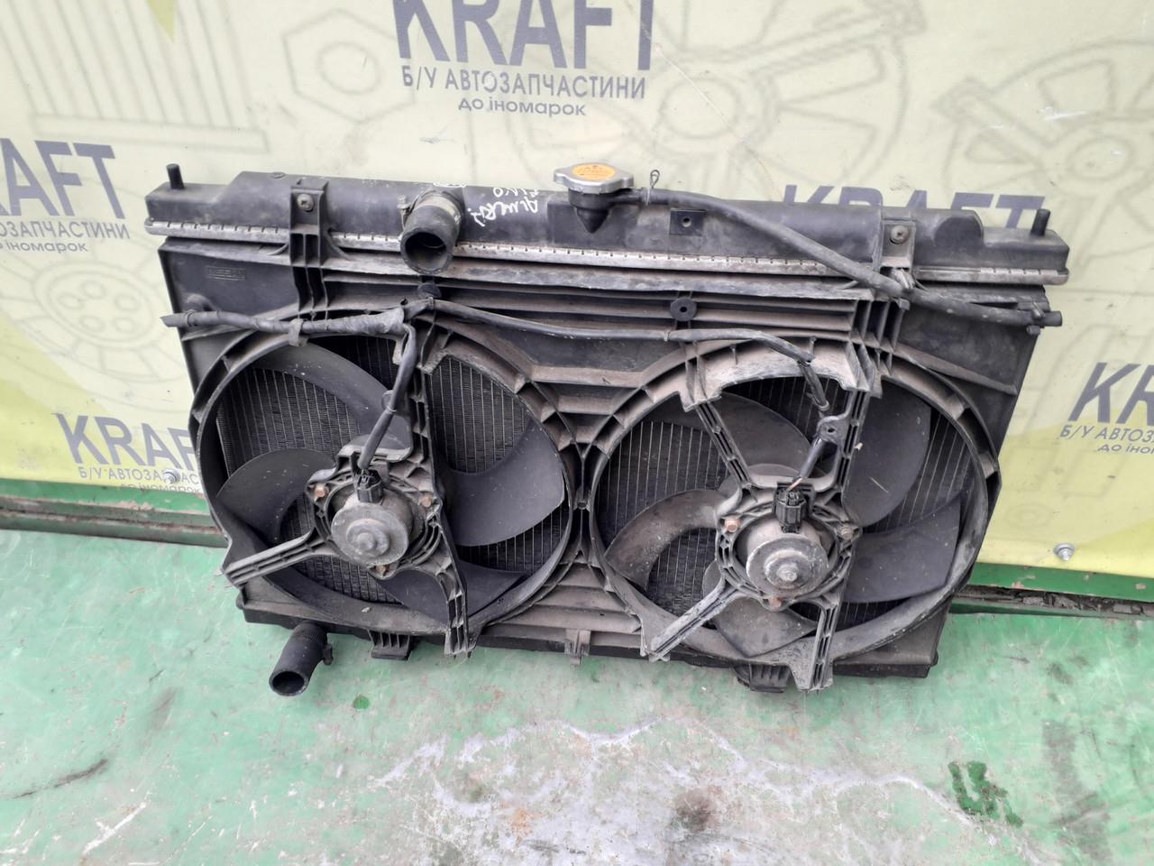 Бу радиатор с вентилятором основного радиатора для Nissan Almera Tino 2002 p., Almera, Primera