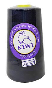 "Нитки швейные ""Kiwi"" темно-синий 4000 ярдов №40/2 (322)"