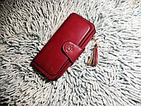 Стильный кошелек клатч женский Baellerry красный цвет Жіночий гаманець червоний