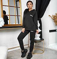 Женский чёрный спортивный костюм оверсайз