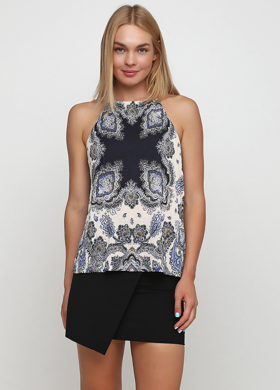 Женская блуза H&M  M(170/96 ) молочно-синий