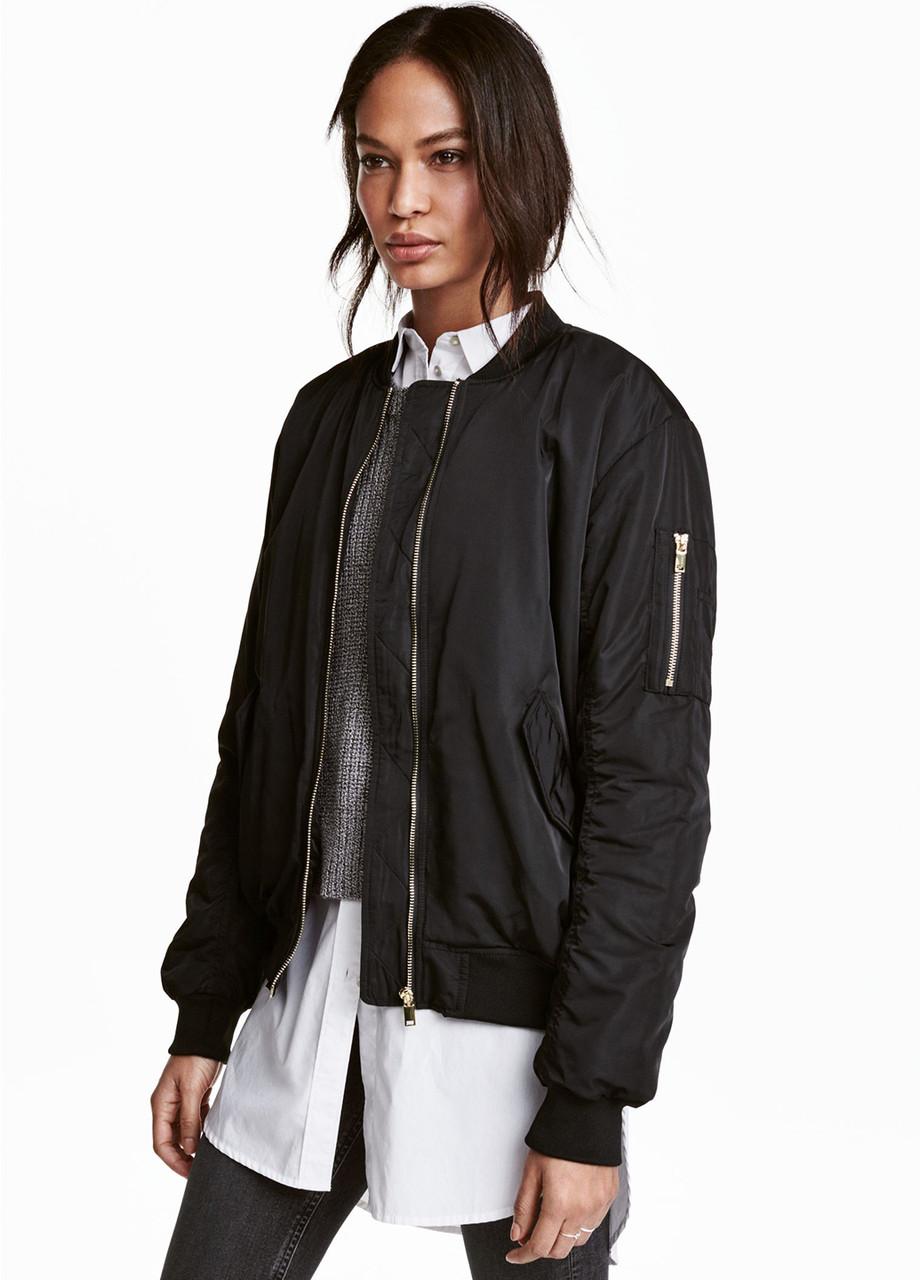 Жіноча куртка H&M 34(160/80) чорний