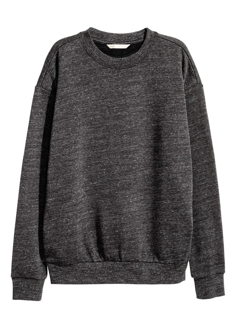 Женский свитшот H&M XS(160/80) чернотемносерый