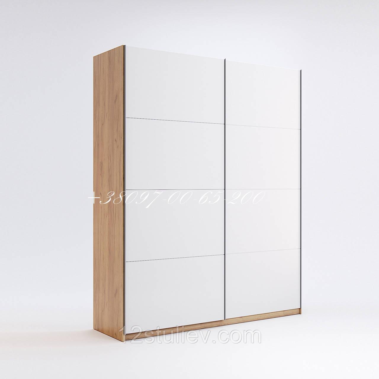 Шафа-КУПЕ Асті 2,5 м (*Двері білий глянець*)