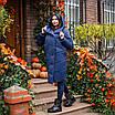 Куртка-пальто женская зимняя 'Mi-mi-mi' (синяя), фото 5
