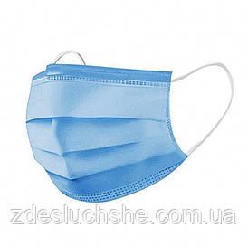 Защитная медицинская трехслойная маска с мельтблауном SKL11-277976