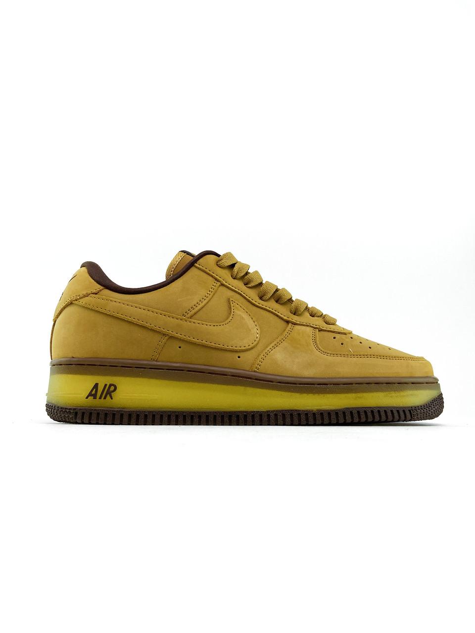 Чоловічі кросівки Nike Air Force 1 Low Wheat Mocha (Кросівки Найк Аір Форс 1 низькі коричневі)