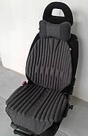 Подушка на автомобильное сиденье EKKOSEAT ортопедическая. Черная, Серая, Бежевая. Универсальная. БИО.