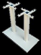 Опора для прямоугольного стола Лион Дабл 700. Высота - 725 мм.