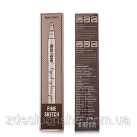 Карандаш для бровей Music Flower 02 Dark brown (коричневый темный) SKL11-276962