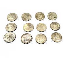 Коллекционные монеты Гороскоп набор 12 шт