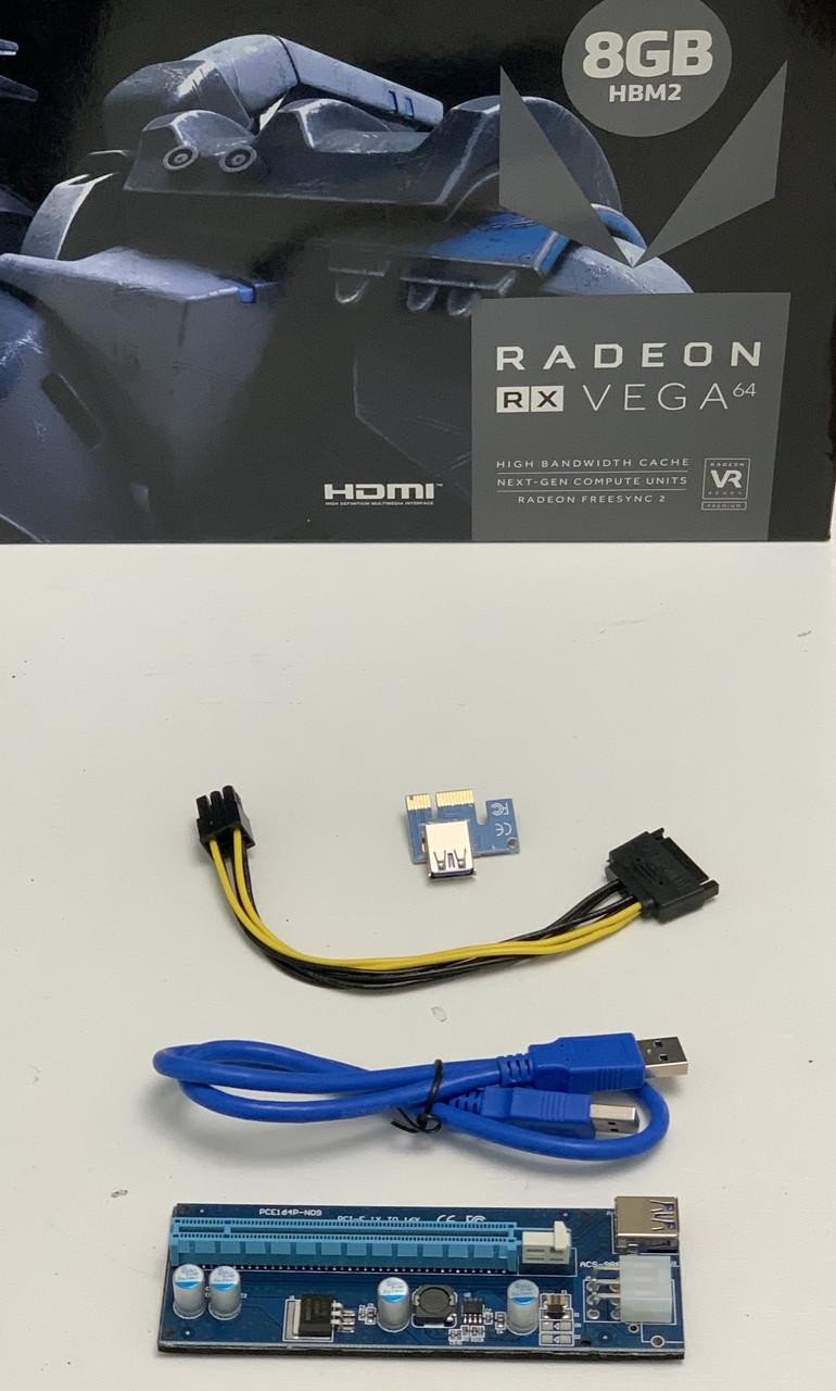 Новые Райзер 6 pin v006C\ 007 \009S  USB 3.0 PCI-E 1X - 16X Riser для Видеокарт 60см adapter PCI express