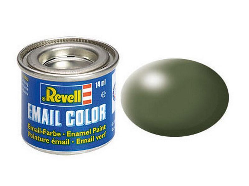 Оливково-зеленая шелково-матовая. Краска эмалевая, 14 мл. REVELL 32361
