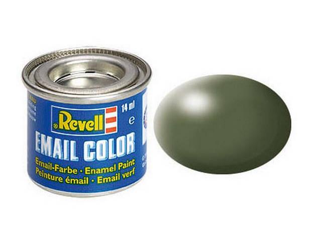 Оливково-зеленая шелково-матовая. Краска эмалевая, 14 мл. REVELL 32361, фото 2