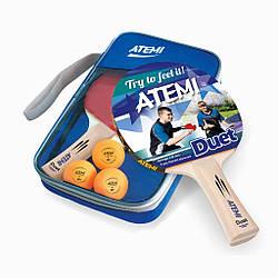 Набор настольного тенниса Atemi DUET (2р + 3м + чехол)