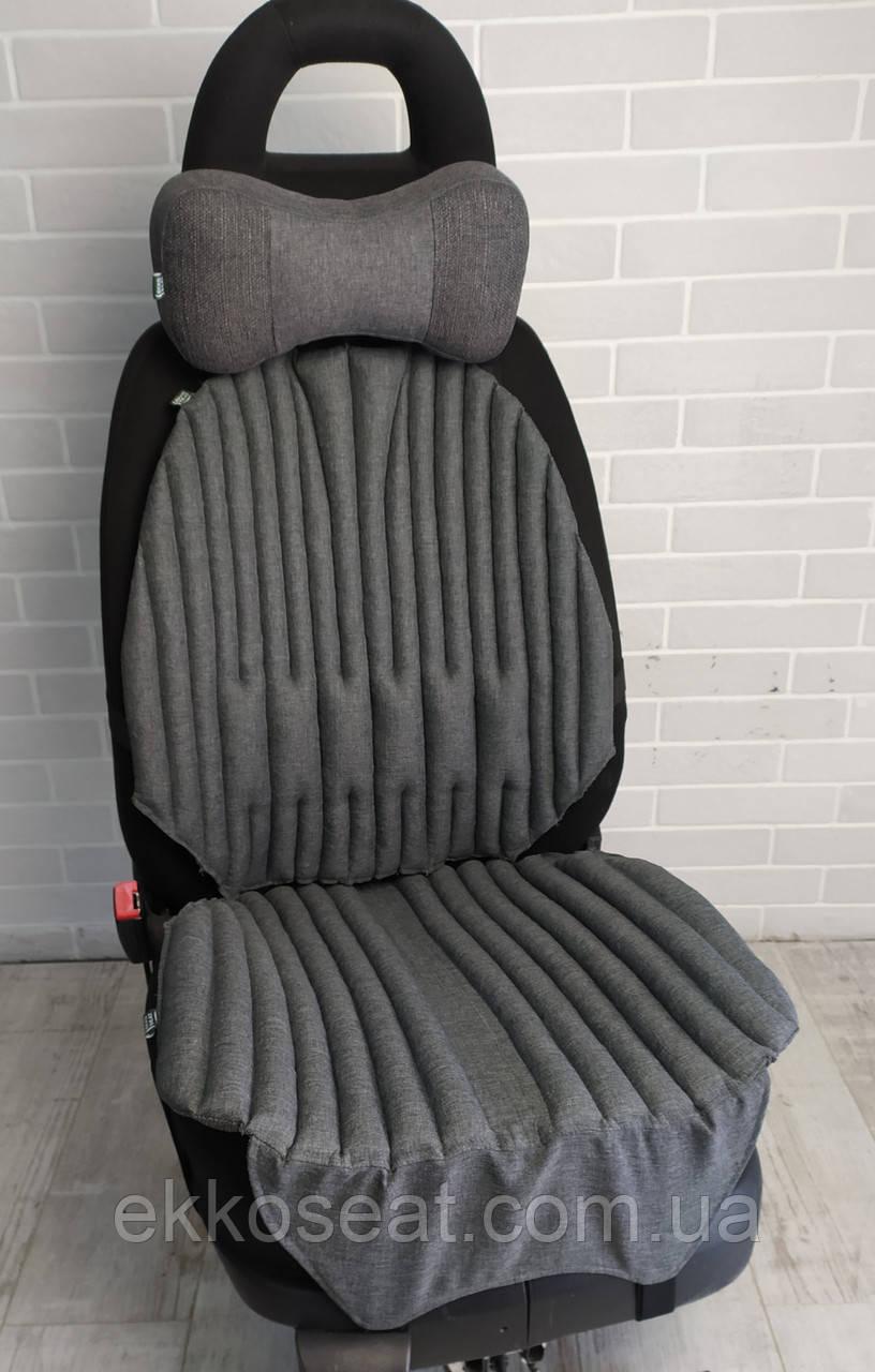 Автомобильные подушки для сидений EKKOSEAT ортопедические.Черная, Серая, Бежевая. БИО. Универсальные