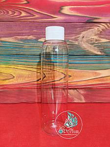 Флакон прозрачный пластиковый 150 мл комплект (белая крышка+пробка) 24/410