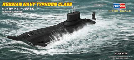 "АПЛ типа ""Тайфун"". Сборная модель подводной лодки в масштабе 1/700. HOBBY BOSS 87019"