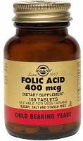 Фолиевая кислота (Folic Acid) Солгар №100
