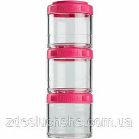 Контейнер спортивний BlenderBottle GoStak 3 Pak Pink Original SKL24-277237